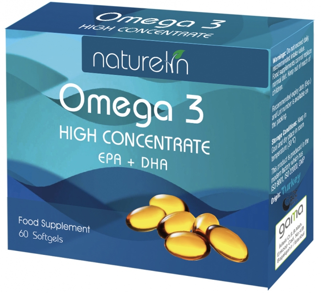 NATURELIN OMEGA-3 HIGH CONCENTRATE 60 SOFTGEL