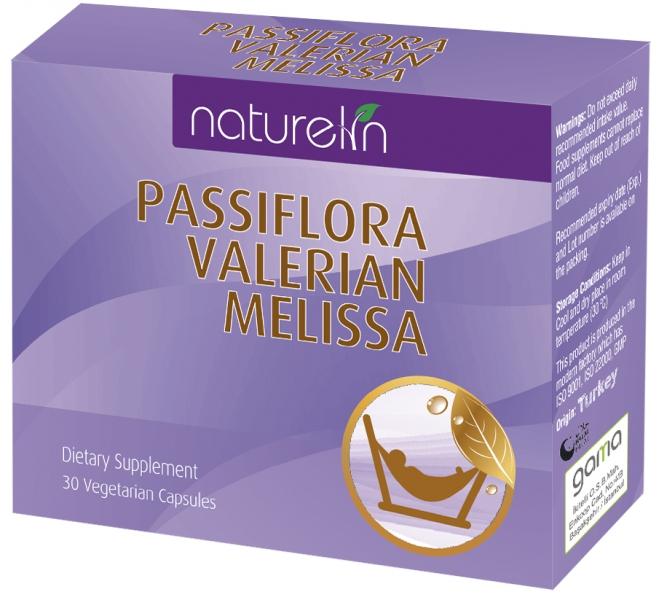 NATURELIN VALERIAN + PASSIFLORA + MELISSA 30 CAPSULE