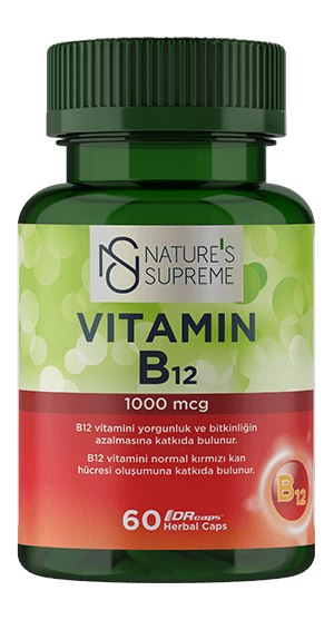NATURE'S SUPREME VİTAMİN B12 60 CAPSULE